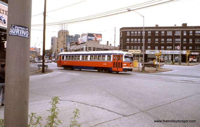 SEPTA 22 near the 69th Street Terminal in May 1976.