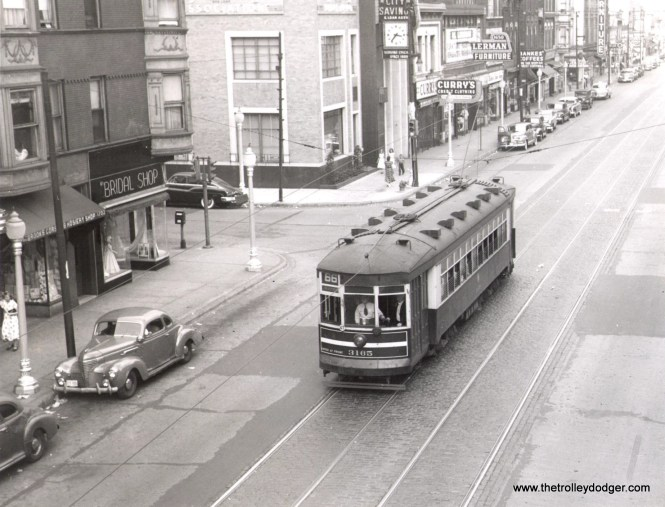 CTA 3165 at Chicago and Paulina, August 27, 1950. (Thomas H. Desnoyers Photo)