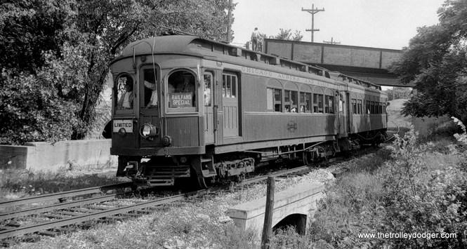 CA&E Car 10 and trailer 5, CERA fantrip #12, August 6, 1939.