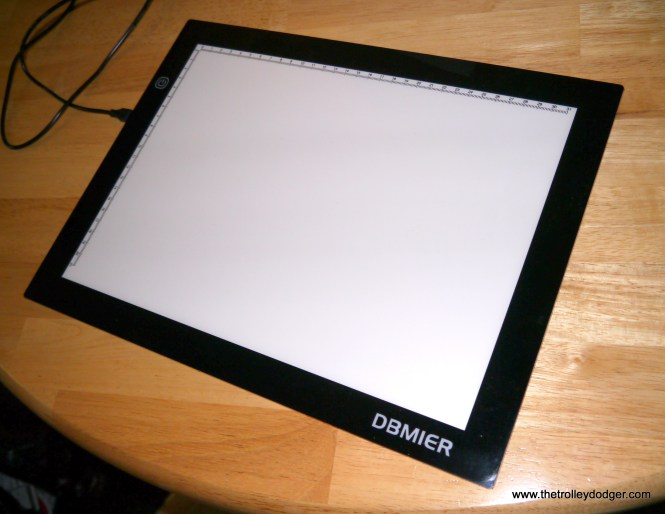 This picture shows the lightbox with the light turned off.
