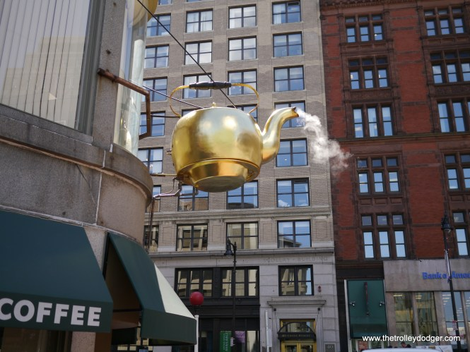 This giant steaming teakettle has been a Boston landmark since 1873.