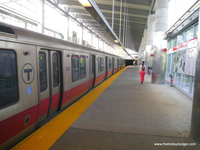 The Red Line at Ashmont.