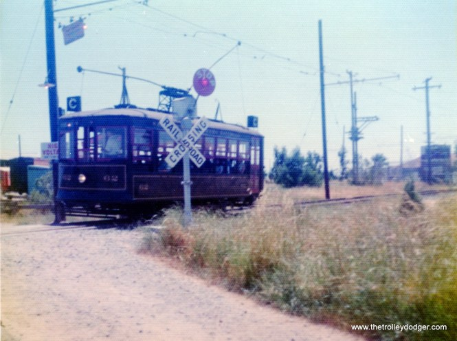 This is Sacramento Northern 62, a Birney car built in 1920 by American Car Company. We see it here at the Western Railway Museum on May 26, 1974.