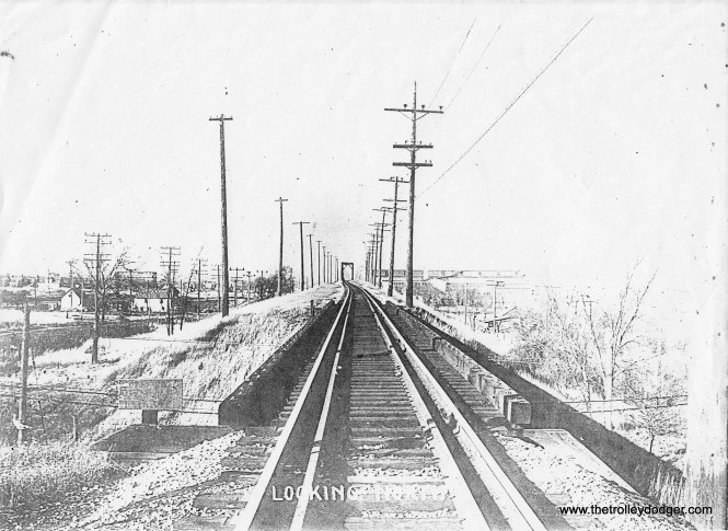 7B Looking north toward bridge crossing Milwaukee Road at top (Holt Ave.) City of Milwaukee Engineers Dept. photo