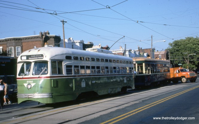 SEPTA 2750 and 8534 in August 1996.