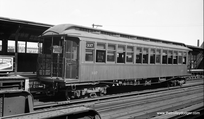 CRT 337 at Indiana Avenue in September 1936.