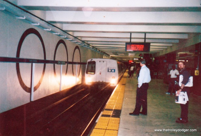 A BART C train, built by Alstom circa 1995.