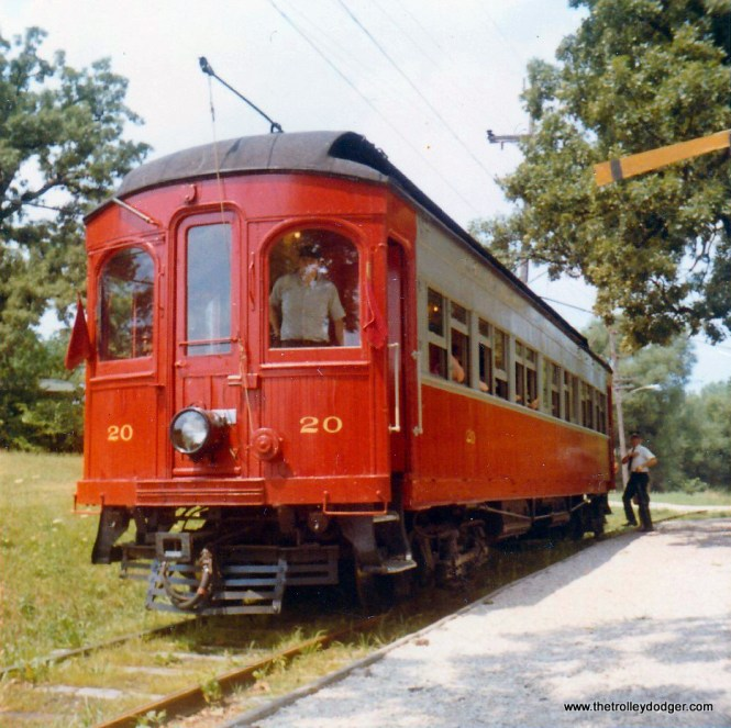 CA&E car 20 at the RELIC museum, August 1970.