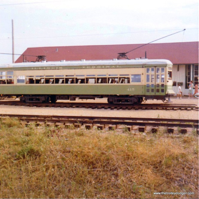 Illinois Terminal 415 at the IRM depot in August 1970.