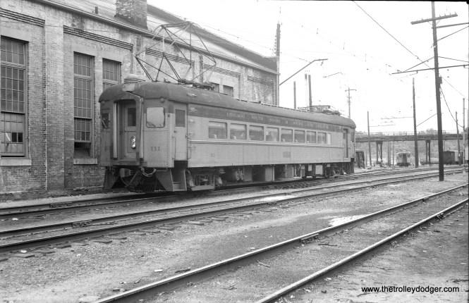 South Shore Line 111 in Michigan City.