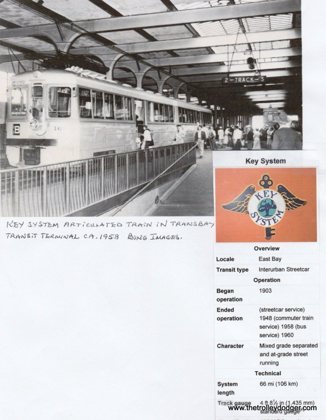 A Key System Transit train in the Trans Bay Terminal in 1953.