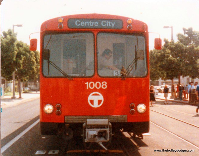 The San Diego Trolley's original cars were built by Duewag of Dusseldorf, Germany with help from Siemens.