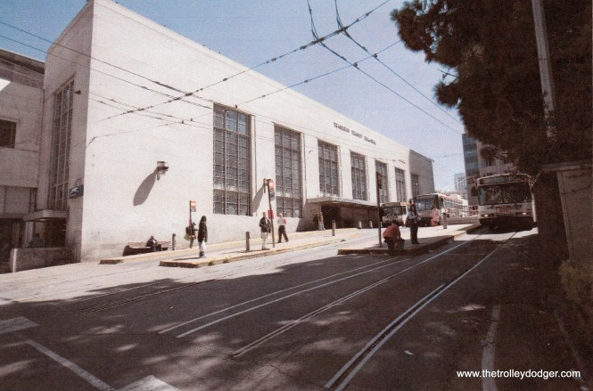 The Trans Bay Transit Terminal at 1st and Mission in San Francisco, razed in 2011.
