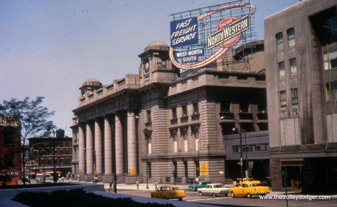 The old Chicago and North Western station in July 1966. (Joe Piersen Photo)