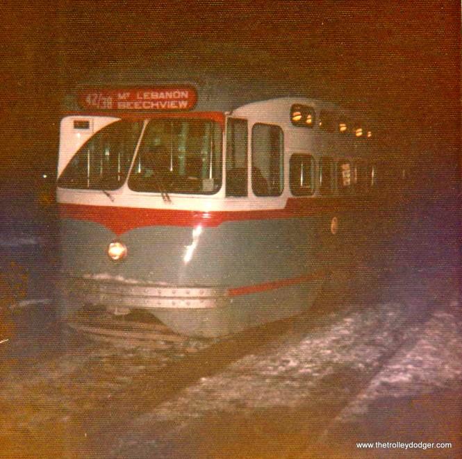 PA Transit 1727 in 1972. (Bill Beaudot Photo)