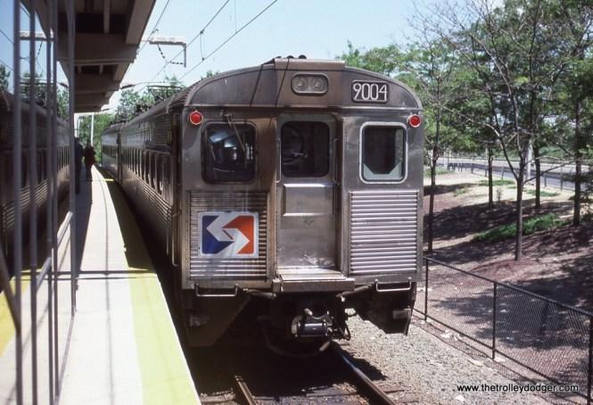 SEPTA Silverliner II #9004 (Ex-RDG) at the Philadelphia Airport Station in 1988.