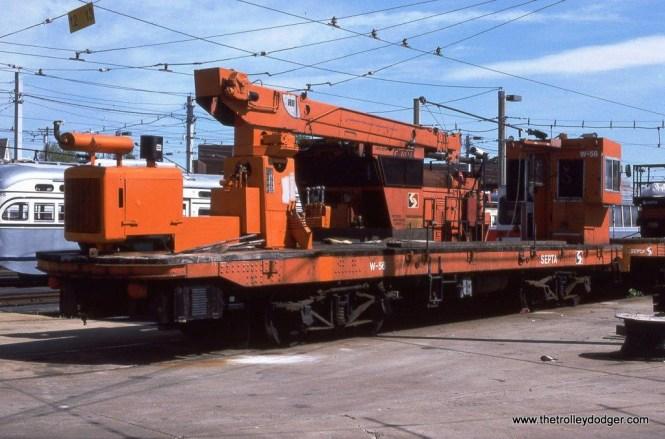 SEPTA crane #W-56 at Elmwood.
