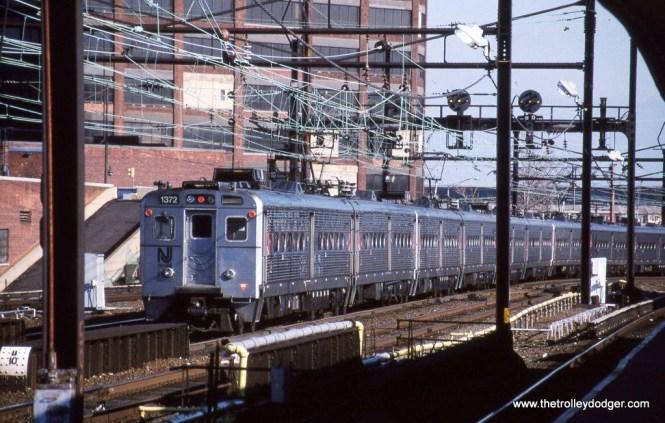 Photo 16. A train of NJT Arrow III cars at Harrison, NJ in 2002.