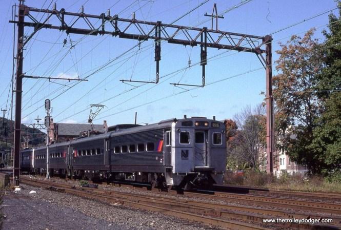 Photo 3. NJT Arrow II MU #1265 leads train #964 as it departs Dover.