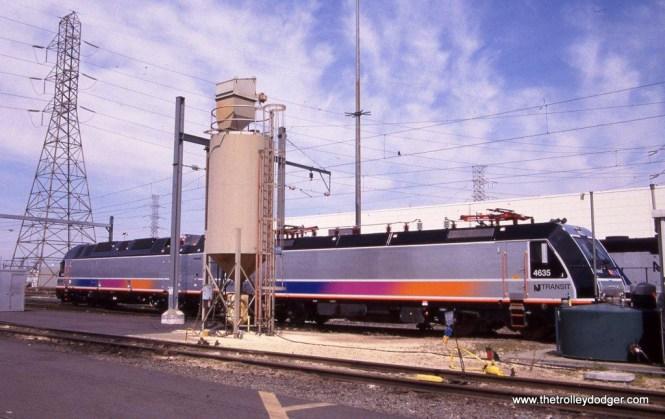 Photo 6. ALP-45A 4635 & ALP-45DP (duel mode) #4504 at the MMC, Kearny NJ. 4-14-12.