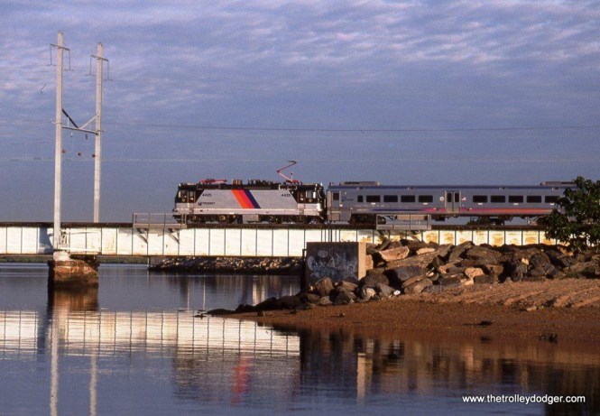Photo 7. NJT ALP-44 4425 at Perth Amboy and heading for Long Branch. 7-11-08.