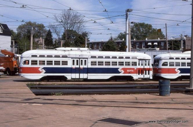 SEPTA PCC #2711 at the Elmwood Depot, Philadelphia, PA.