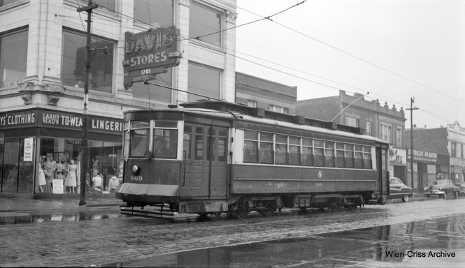 CTA 669 at 63rd and Paulina, probably in early 1953. (Robert Selle Photo, Wien-Criss Archive)