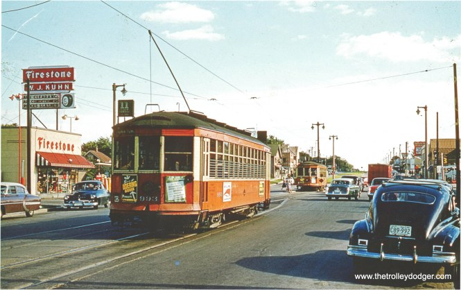 TM 993 at Howell and Howard. Note car in pocket ahead. (Don Ross photo)