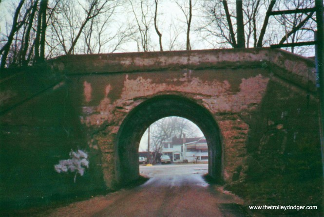 Tunnel beneath abandoned NSL r.o.w. at Rondout, Illinois, 1992.