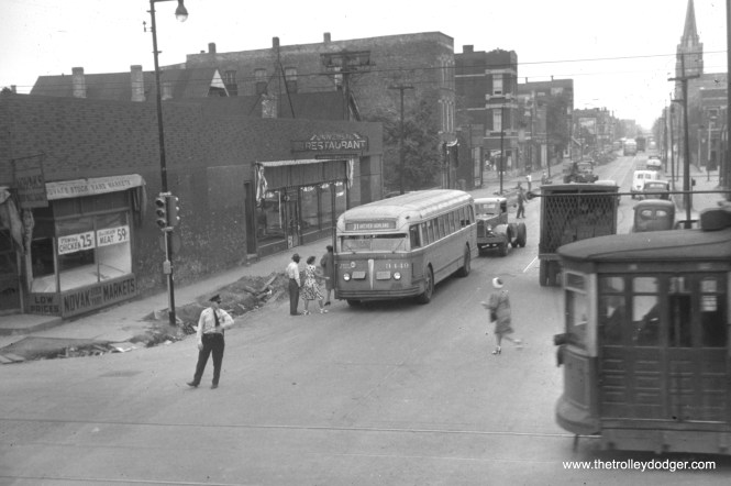 CTA 3449 is on Route 31 (31st Street). Not sure which cross street the streetcar is on.