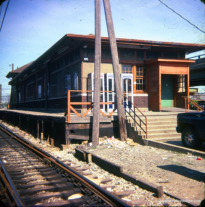 The old South Shore Line station in Gary, Indiana in July 1984. (Paul Johnsen Photo)