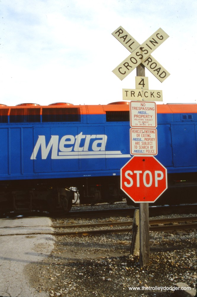 My Metra title slide... nice, eh? December 1990. (Paul D. Schneider Photo)