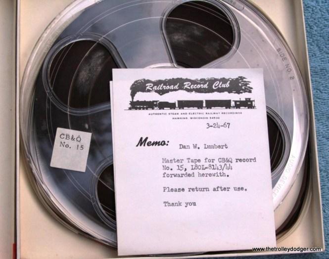 26 master tape Railroad Record Club number 15