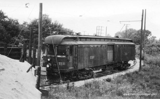 Interstate car 711 on shop siding west of Greencastle June 3 1939