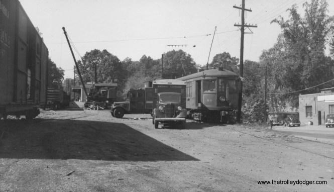 Interurban car 44 and REA truck Rosslyn VA