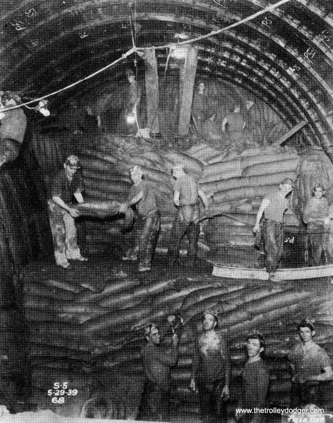 Mining clay in the Chicago subway.