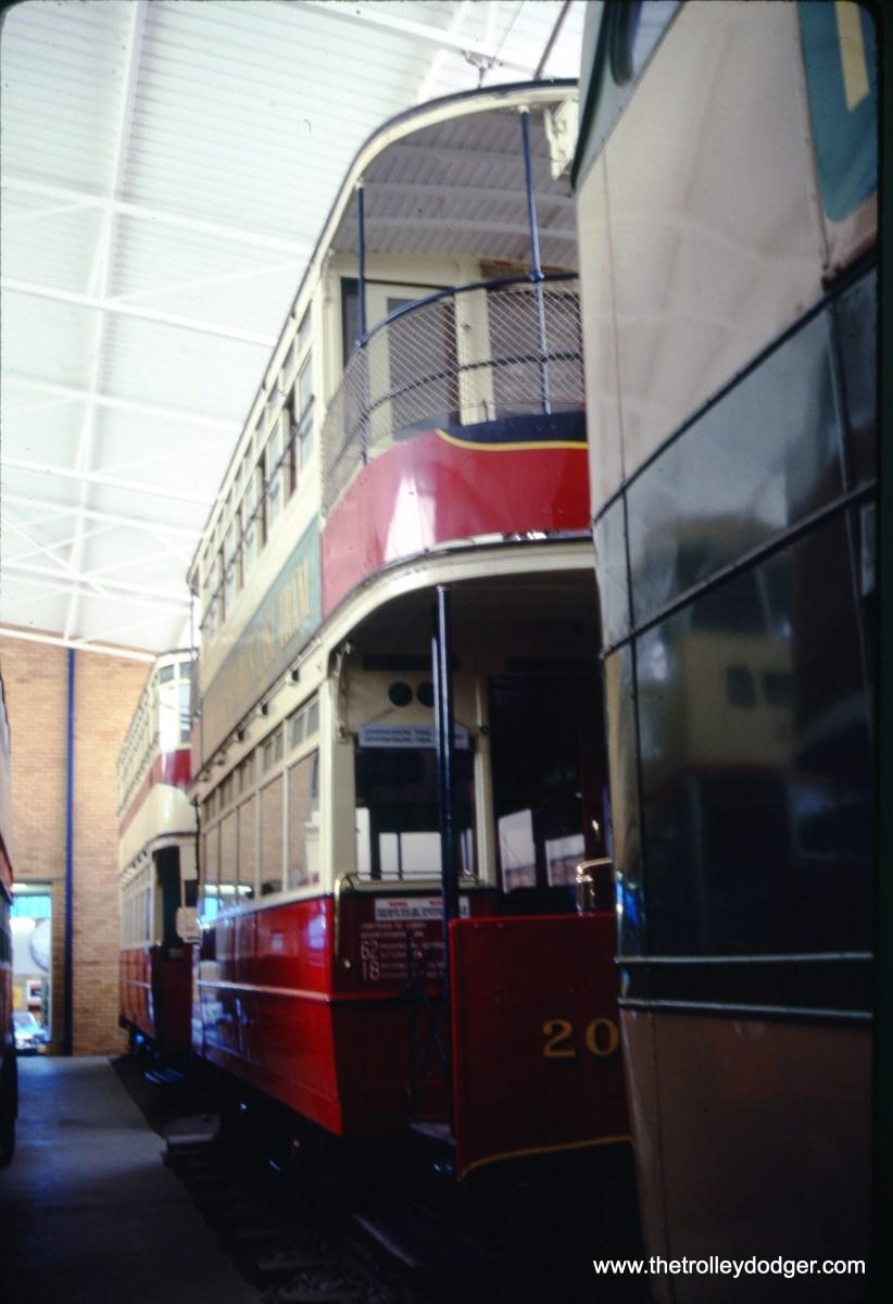A double-decker tram, presumably at a museum, on February 19, 1992. (Albert J. Reinschmidt Photo)