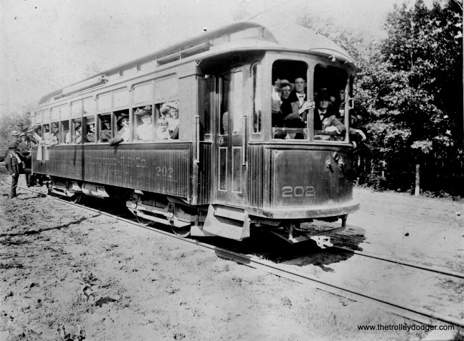 This is car #202 of the Chippewa Valley Electric in Eau Claire, Wisconsin. (William Shapotkin Collection)