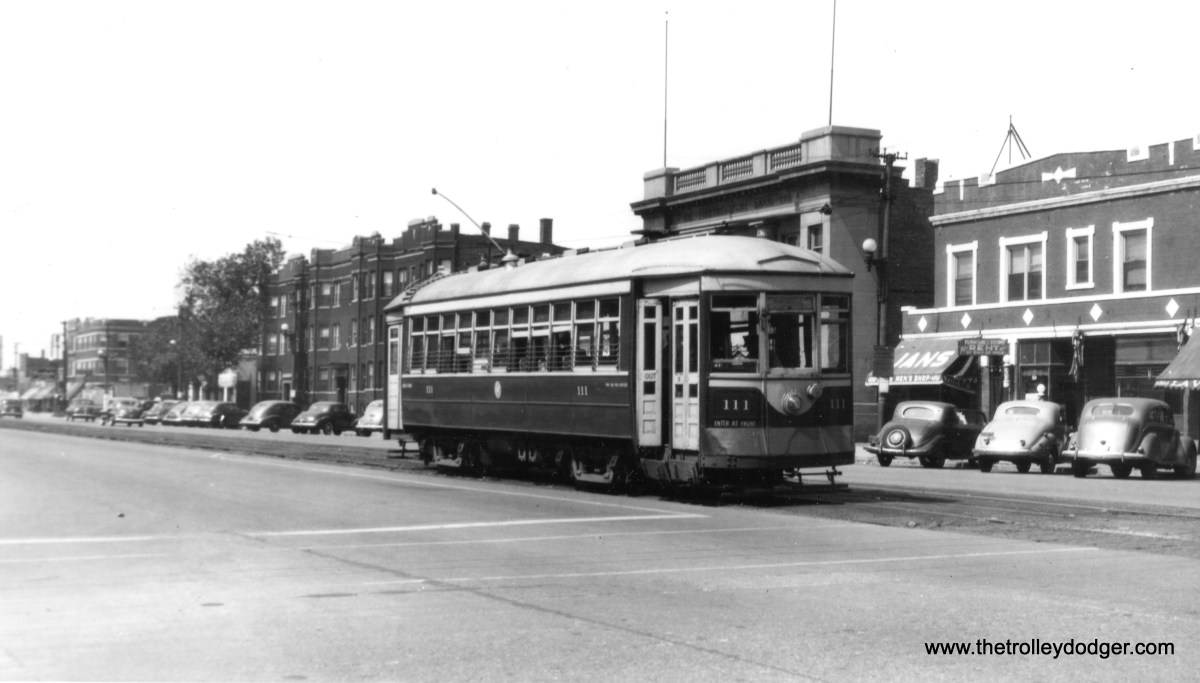 C&WT 111 on Cermak Road. (William Shapotkin Photo)
