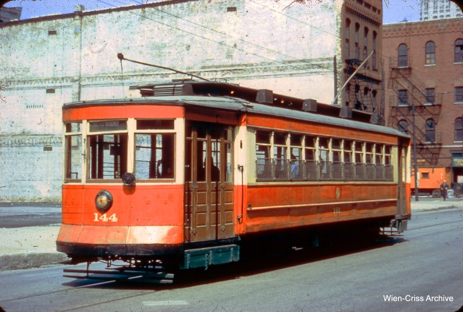 CTA red Pullman 144, which is now at the Illinois Railway Museum. (Wien-Criss Archive)