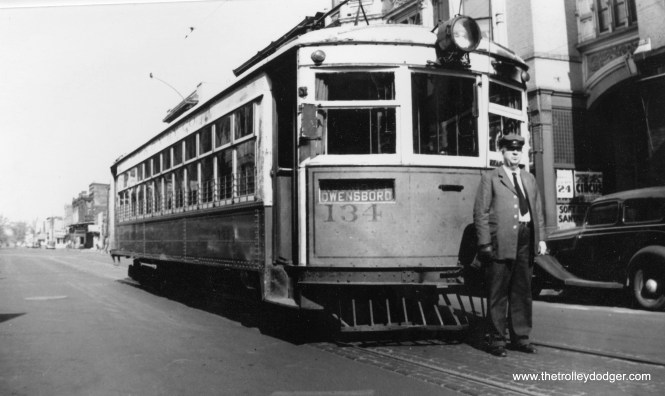 Evansville and Ohio Valley car #134.
