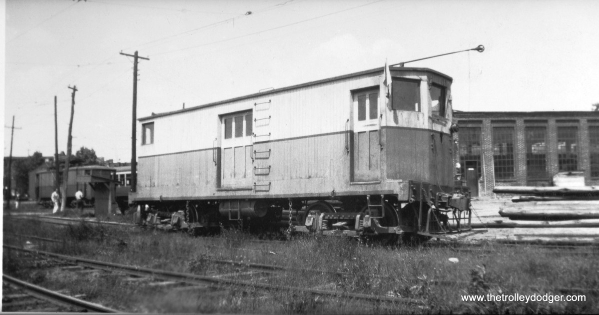 A Hagerstown and Frederick work car in Fredercik, MD on May 30, 1939.