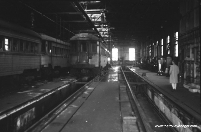 The North Shore Line shops interior in Milwaukee, September 24, 1961.