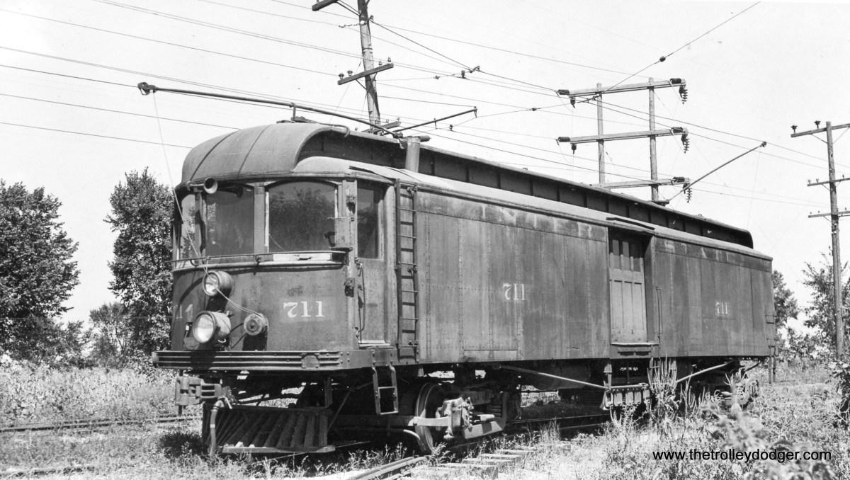 Interstate car #711, ex-Indiana Public Service Corporation 427, on September 3, 1939.