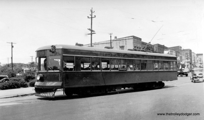 Indiana Railroad lightweight car #99.