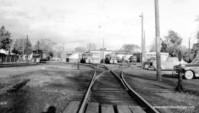 Niagara St. Catharines and Toronto Railway yard.