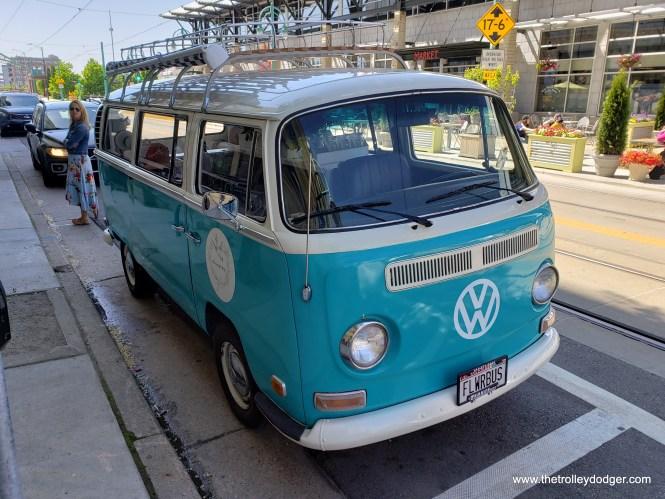 Another merchant had a VW bus near the Public Market.