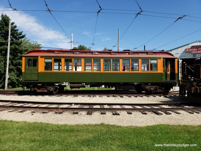 Chicago Rapid Transit car 1754 was eventually brought out of the barn.
