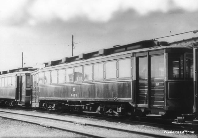 CSL 1474 (built circa 1900 for Chicago Union Traction, rebuilt 1913). (William C. Hoffman Photo, Wien-Criss Archive)