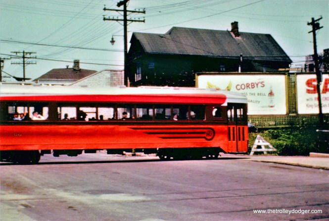 Car 66 inbound xing N. 8th St. 1951